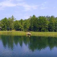 Jezioro Zelwa z perspektywy drona